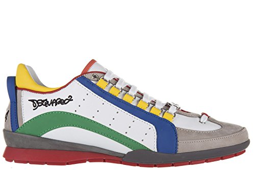 Dsquared2 Herrenschuhe Herren Leder Schuhe Sneakers 551 sport Weiß EU 42 S16SN434 714 M538 thumbnail