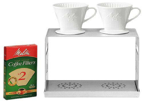 Melitta 2 Station Stainless Steel Pour-Over Coffee Bar