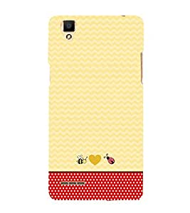 Chevron Red Dots 3D Hard Polycarbonate Designer Back Case Cover for Oppo F1