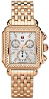 Michele Watches Womens Signature Deco Rose Gold Diamond