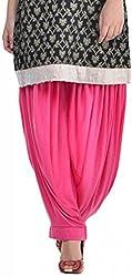 Sohniye Womens Viscose Patiala Salwar (GAKP05_Pink_Free Size)