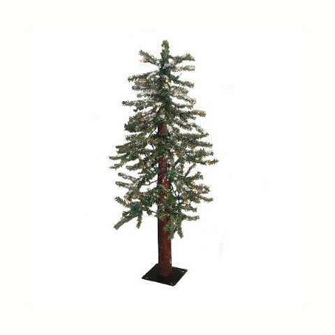 Bulk Buy: Darice DIY Crafts Alpine Tree with 50 Lights 195 Tips 3 feet (2-Pack) RC-6408