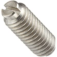 Stainless Steel 303 Set Screw with Spring Ball, Slotted Drive