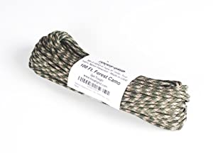 Paracord / Parachute Cord - 750lb Mil-C-5040-H Type IV - 100Ft. Color = Forest Camo. This is the actual parachute cord used by the US Military. It is the Best Paracord available to the public and made by a US Government Certified Manufacturer. This Paracord is rated to 750 pounds (beating the average