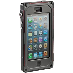 PELICAN(ペリカン) ProGear Vault CE1180 iPhone5S iPhone5 防塵・防水ケース ダークグレイ・レッド 3年保障 正規品
