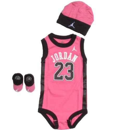 Michael Jordan 3-Piece Infant Set Size 0-6 Months In Pink And White front-1003757