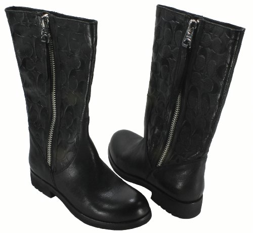 Coach Women's Valentine Boot (Black, 7)