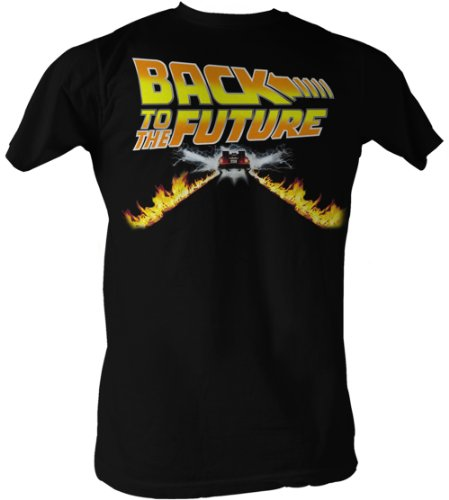 Back To The Future T-Shirt - Delorean Fire