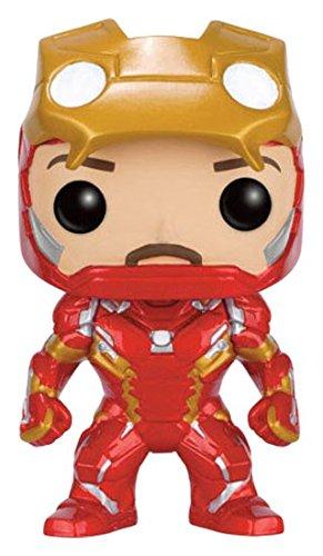 Marvel Funko - Captain America Civil War Statuine Iron Man Unmasked Pop Limited