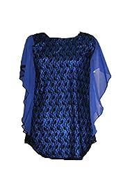 Exhort Fashion Blue Kaftan-XXXL