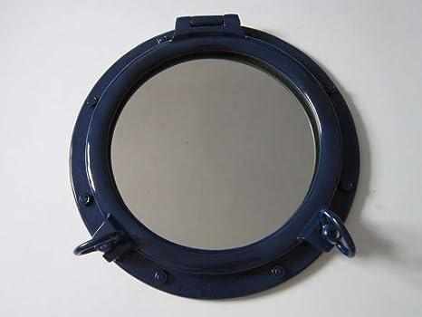 """Navy Blue Porthole Mirror 20"""""""
