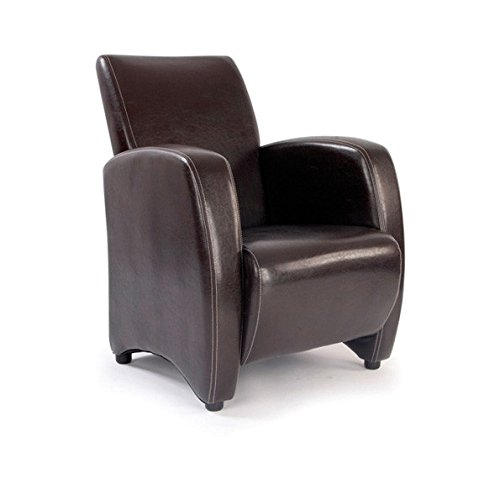 Metro High Back Lounge Armchair Brown