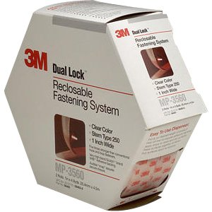 3M 70070428456 MP3560 1-Inch by 5-Yard Dual Lock Reclosable Fastener System, Clear