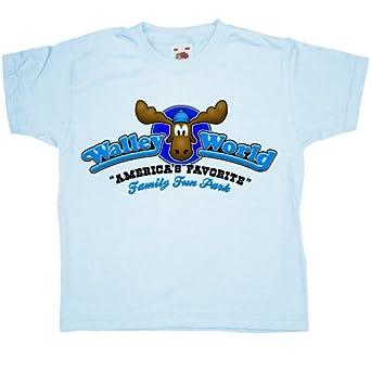 Refugeek Tees - Kids Walley World T Shirt - 2-3 years - Light blue