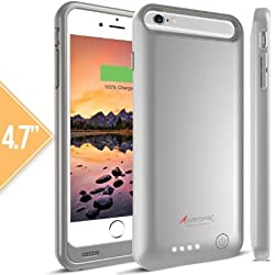 iPhone 6S Battery Case, Alpatronix [BX140] iPhone 6s / iPhone 6 Battery Case [MFi Apple Certified] 3100mAh External iPhone 6S/6 Battery Case Removable Rechargeable Protective iPhone 6s/6 Charging Case [Ultra Slim Portable i