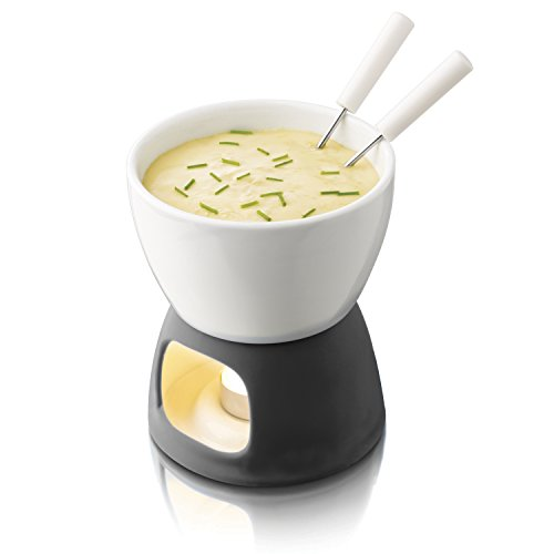 Boska Holland Tealight Fondue Set, For Cheese or Chocolate, Tapas, 200 mL, White, Explore Collection