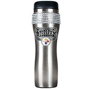 Pitsburgh Steelers Nfl 16oz Stainless Steel Bling Tumbler at Steeler Mania