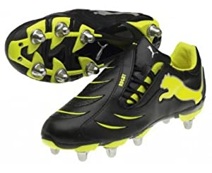 Powercat 3.10 SG Rugby Boots Black/Yellow - 7.5