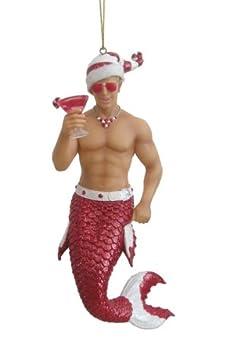 #!Cheap Candy Cane Merman Mermaid Christmas Tree Ornament