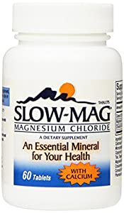 Slow-Mag Magnesium Chloride with Calcium, 60 Count