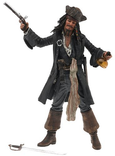 Pirates of the Caribbean Series 1 Captain Jack Sparrow Smiling Action Figure