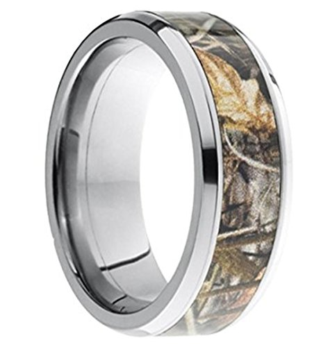 king will 8mm camouflage mens tungsten ring camo