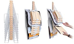 The Up Filer Original, Hanging Wall File, 10 Hangers/Pockets Allows For Letter/Legal/Oversized