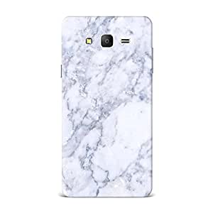Samsung On5 Case, Samsung On5 Hard Protective SLIM Printed Cover [Shock Resistant Hard Back Cover Case] for Samsung On5 -Marble Texture White
