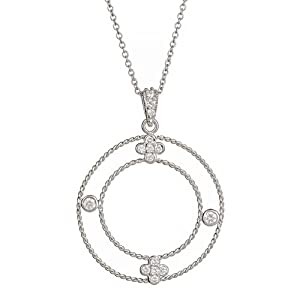 Sterling Silver Clover Necklace 16