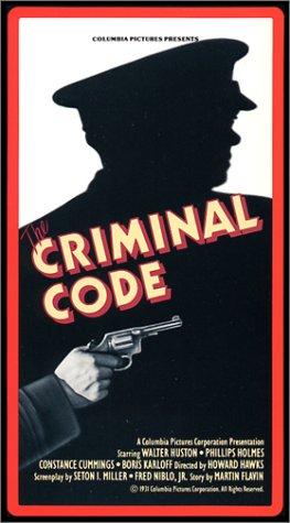Criminal Code [VHS]
