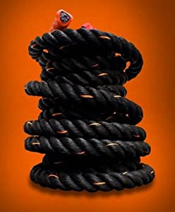 Buy Poly Dacron Training Fitness Battle Exercise Undulation Rope - 50 FT x 2 Black by Cielo - Blue