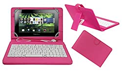 ACM PREMIUM USB KEYBOARD TABLET CASE HOLDER COVER FOR BLACKBERRY PLAYBOOK 4G With Free MICRO USB OTG - PINK
