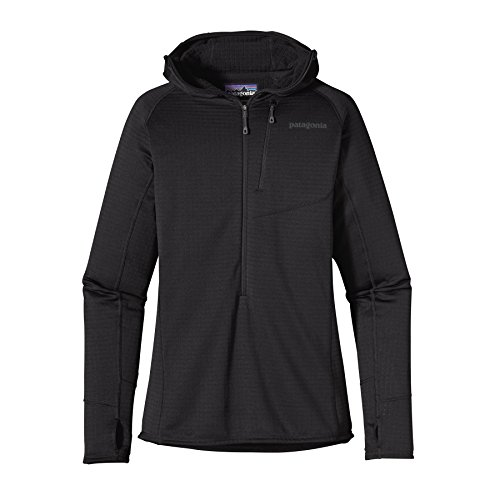 Patagonia giacca da donna con cappuccio R1 felpa con cappuccio, Black, XL, 40076
