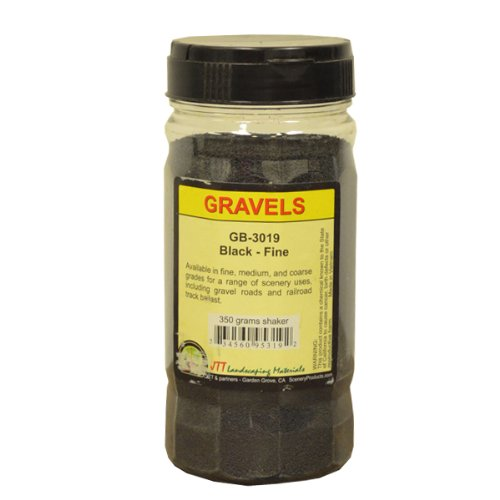 JTT Scenery Products Ballast and Gravel, Black, Fine