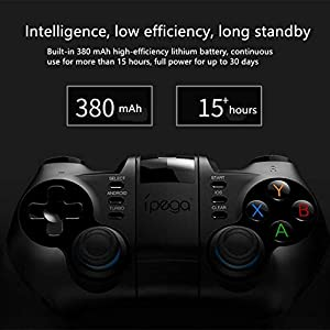 TOONEV Bluetooth Mobile Phone Game Controller for iOS Compatible with iPhone/iPod/iPad/Mac/Apple TV Without Activation and APP Needed (PC Game Controller) (Color: Black, Tamaño: PC Game Controller)