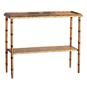 Amazon.com: Doheny Hollywood Regency Style Gold Faux Bamboo Console