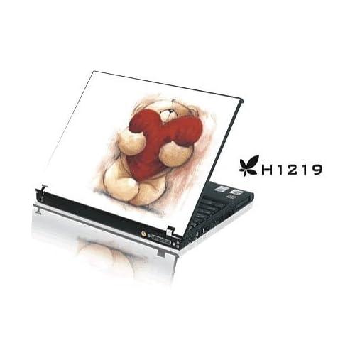 15.4 Laptop Notebook Skins Sticker Cover H1219 Bear Heart