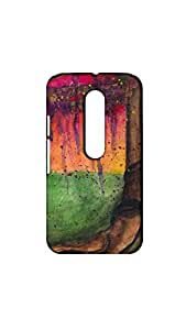 Multicolor Abstract Painting Case/Cover For Moto G3