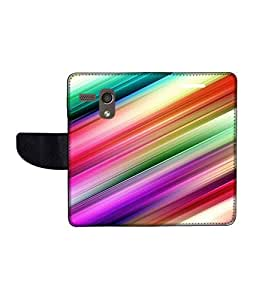 KolorEdge Printed Flip Cover For Motorola Moto G Multicolor -(45KeMLogo12340MotoG)