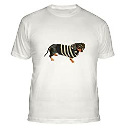 Lily Cool Sweater Dachshund Dog Fitted T-Shirt