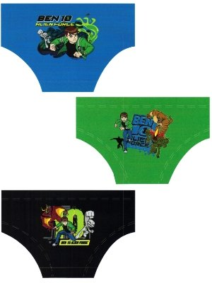 Boys BEN 10 Character Cotton Briefs Underwear in 6 Brief Pack in sizes To fit Ages from 3 years to 10 Years