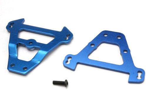 Traxxas 5323 Front and Rear Blue Aluminum Revo Bulkhead Tie Bars - 1