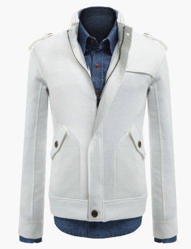 Jiniy Mens Shoulder Strap Jacket WHITE L