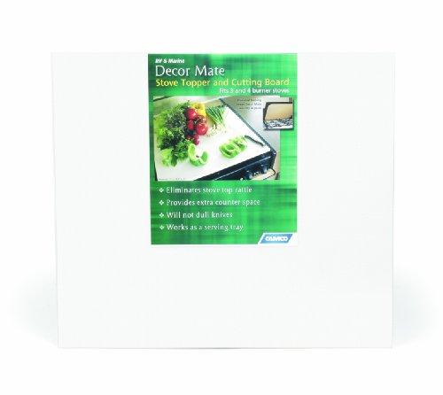 Camco 43707 Decor Mate Stove Topper (White) (Stove Connection compare prices)