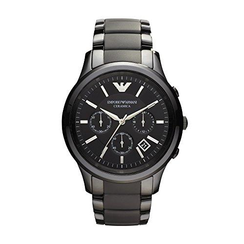 Emporio Armani  - Reloj  de Cuarzo para Hombre, correa de Cerámica color Negro