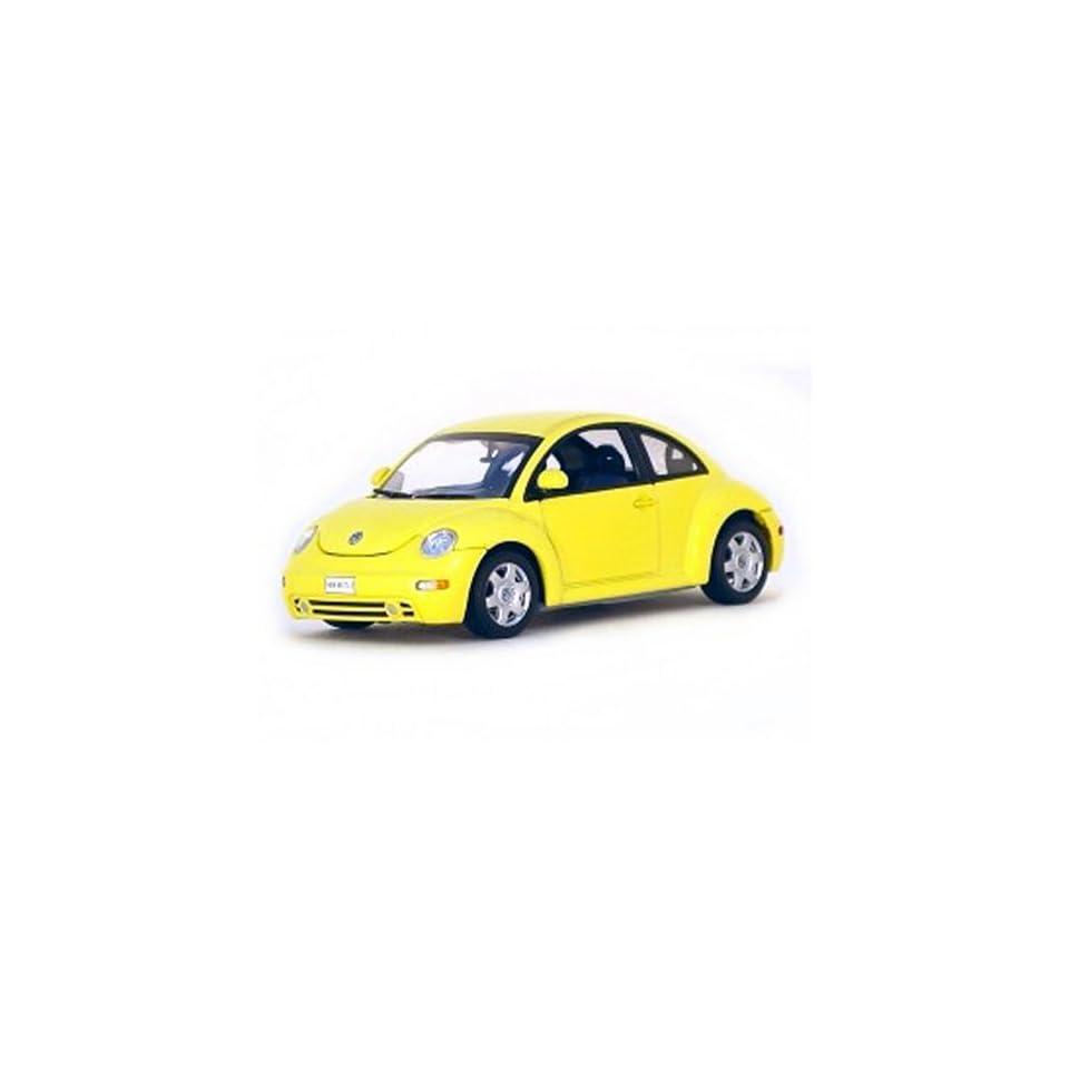Volkswagen New Beetle VW Yellow 1/43 Autoart Diecast Car Model