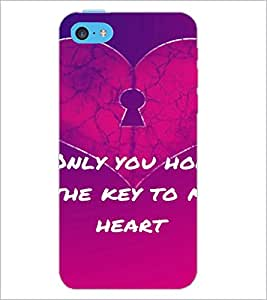 PrintDhaba Quote D-2866 Back Case Cover for APPLE IPHONE 5C (Multi-Coloured)