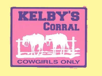 WESTERN GIRLS 2-WAITING HORSES Kids Room Door SIGN,Personalized