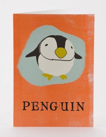Petra Boase Paper Balloon Greeting Card - Penguin front-865290