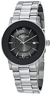 Stuhrling Original Men's 959G.33111 Classic Ascot Paramount Swiss Quartz Ultra Slim Date Black Bezel Watch